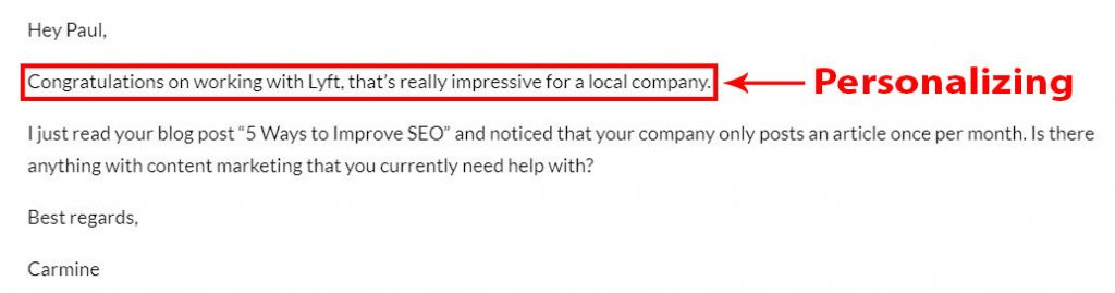 Reaching to clients through cold emails.
