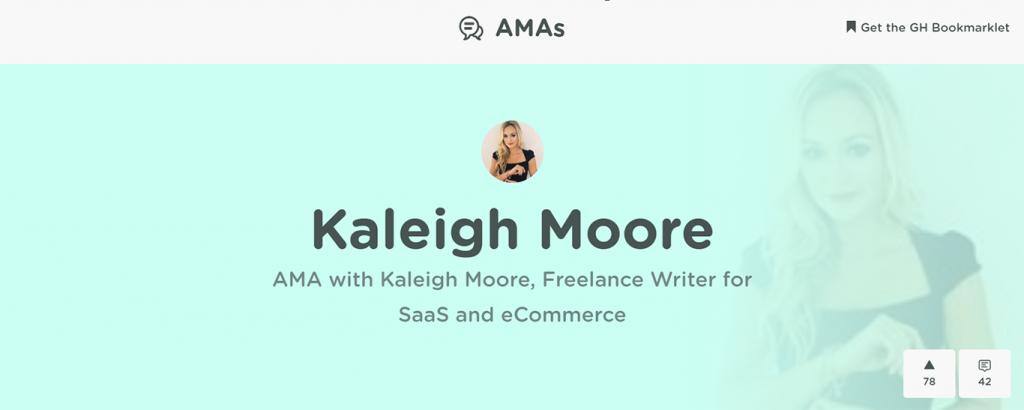 AMAs example on GrowthHackers