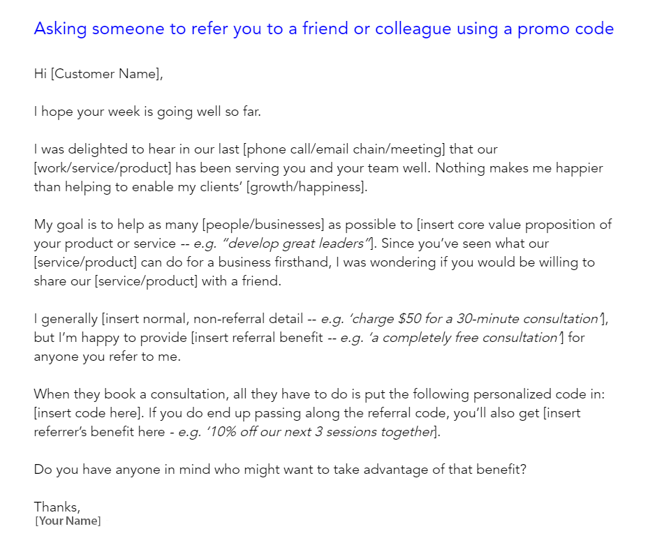 create email templates with promo code