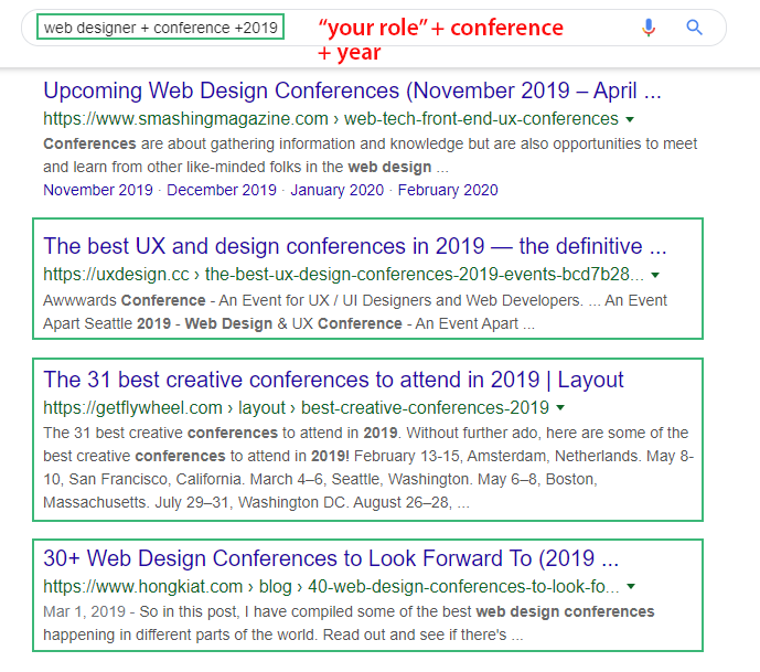 Search on Google with keyword and related year