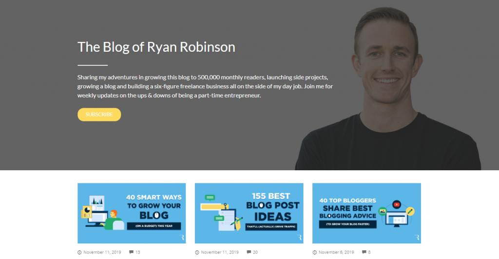 Blog page of Ryan Robinson