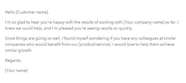 Referral mail for more clients.